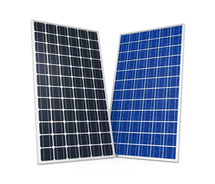 Monokristalline und Polykristalline Solarmodule