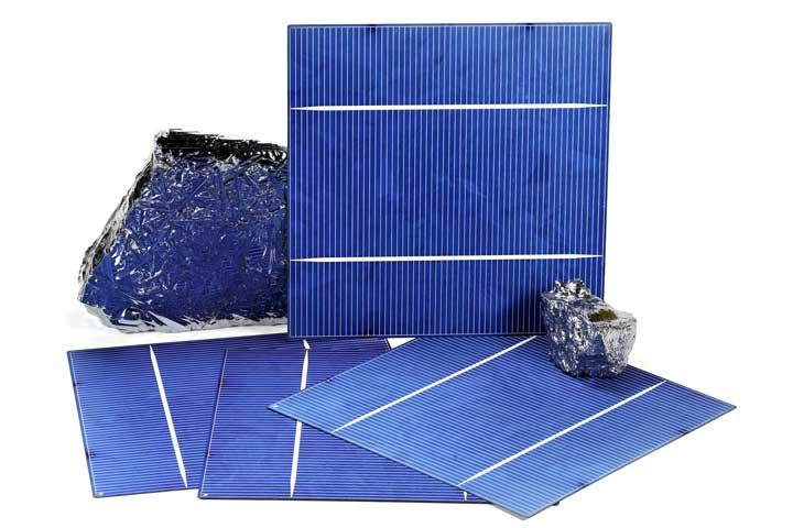 Polykristalline Solarzelle mmit Silizium