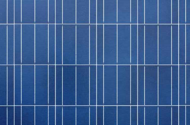Polykristalline Solarzelle