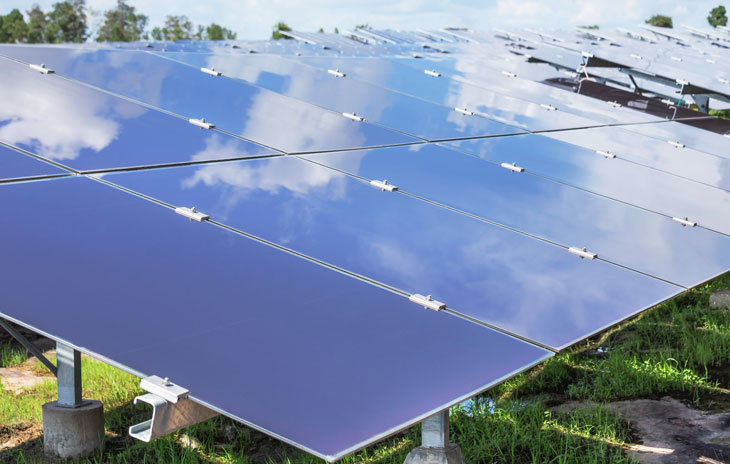 Amorphe Solarzellen im Einsatz