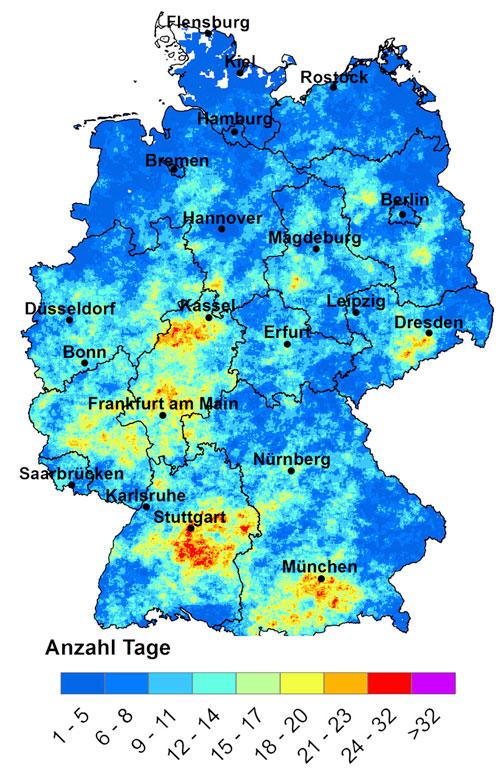 Hagel in Deutschland