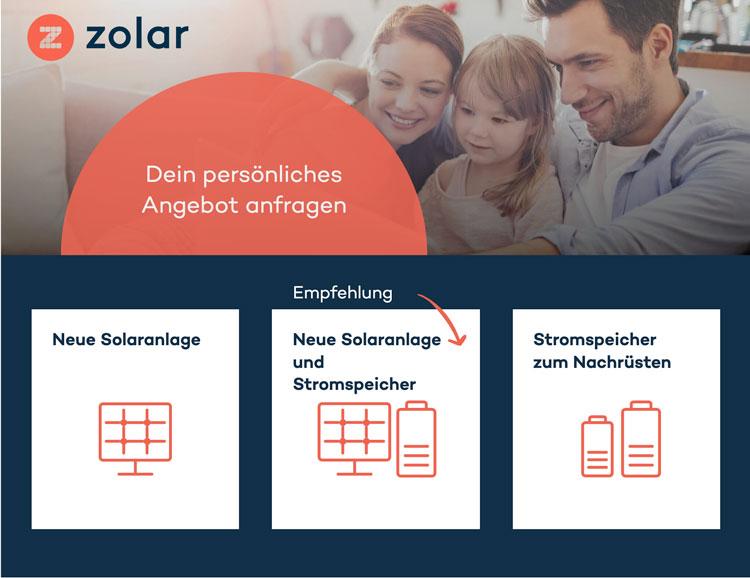 Zolar Onlinekonfigurator